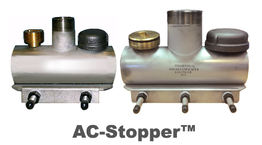 PipeManProducts.com AC-Stopper S/S Line Stop Saddle