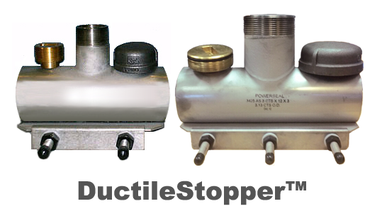 PipeManProducts.com DuctileStopper S/S Line Stop Saddle