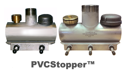 PipeManProducts.com PVCStopper S/S Line Stop Saddle