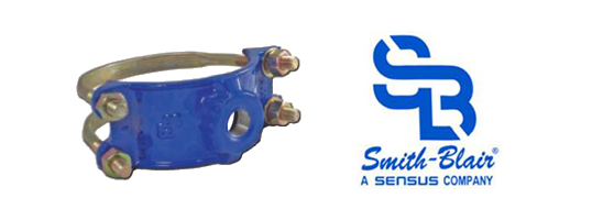 PipeManProducts.com Smith Blair 314 Ductile Iron Double Bale Service Saddle