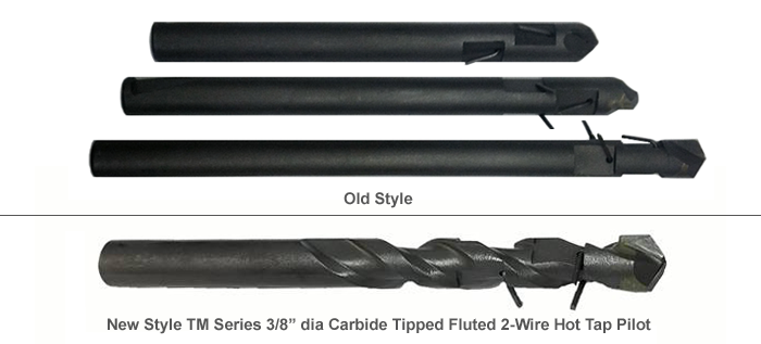 PipeManProducts.com - TapMaster Carbide Tipped Hot Tap Pilots with Dual Retention Wires