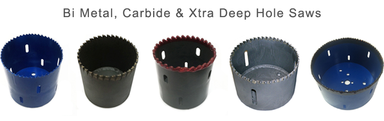 PipeMan Products, Inc. Offers  Bi-Metal, Carbide & Xtra Deep Hole Saws